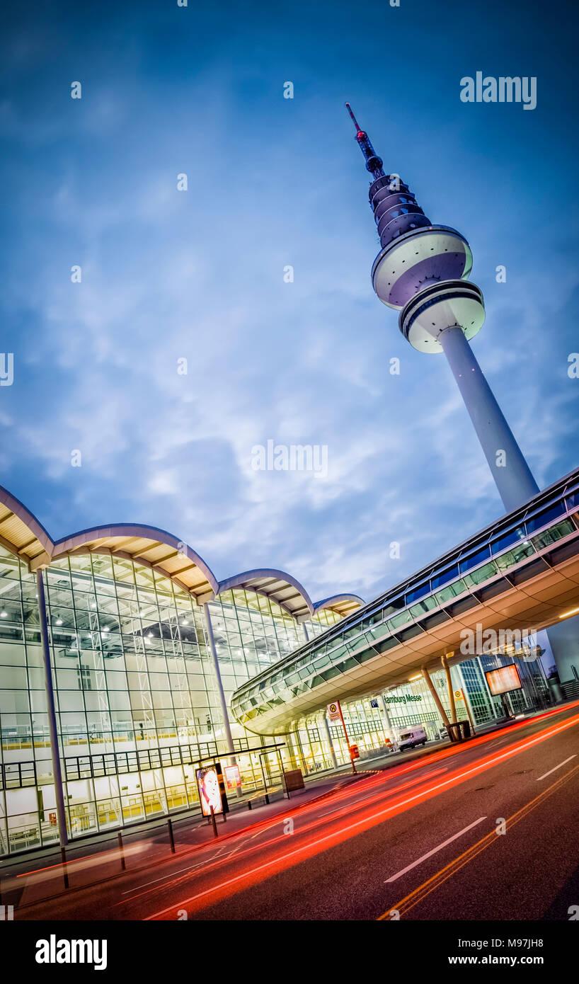 Deutschland, Hamburg, Messehallen, Fernsehturm, 'Heinrich-Hertz-Turm' - Stock Image