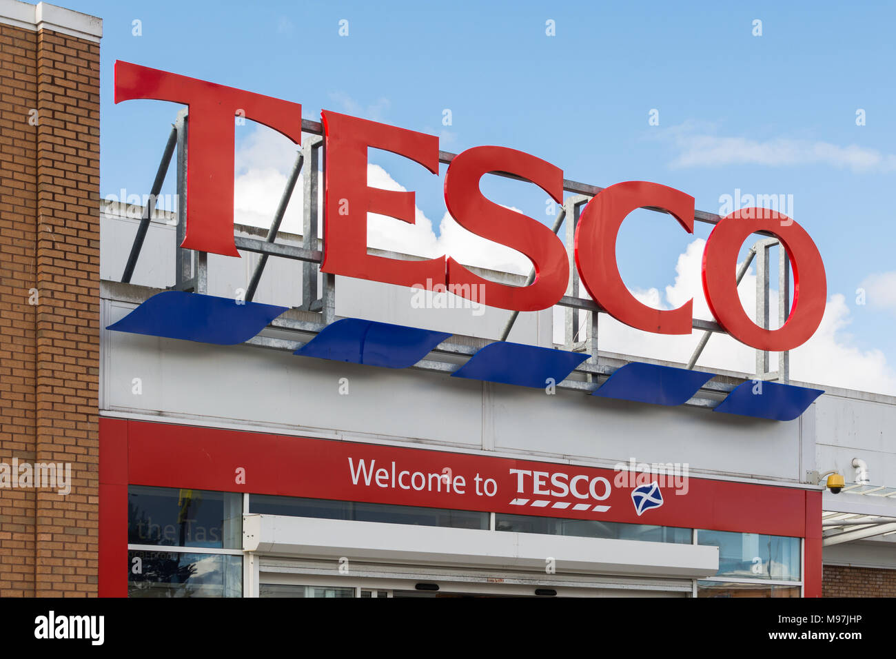 Tesco sign - Stock Image