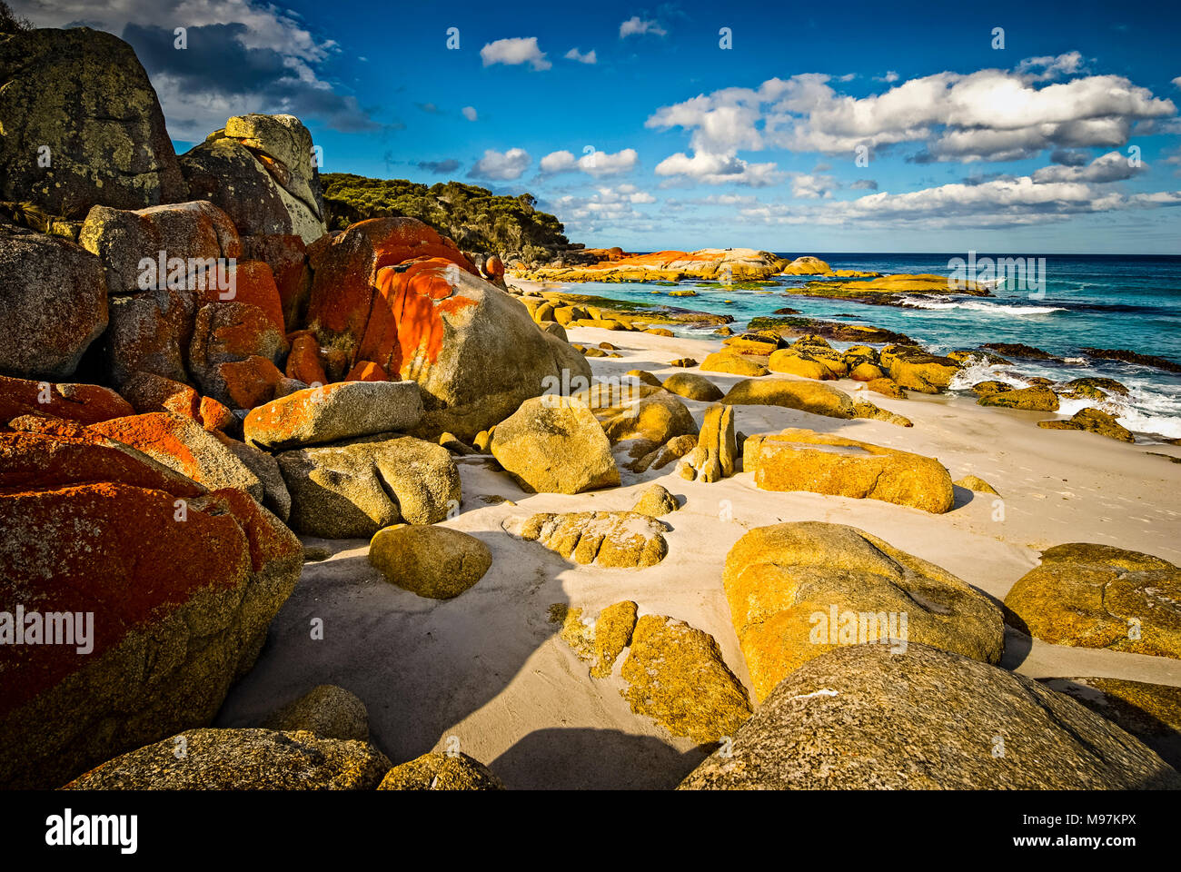 Australien, Tasmanien,  Felsformation, Bay Of Fires, St. Helens, Granitfelsen - Stock Image