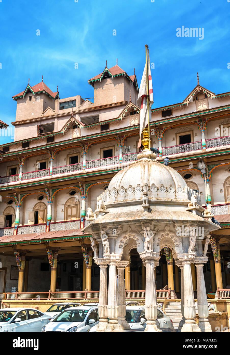 Kalupur Swaminarayan Mandir, a hindu temple in the old city of Ahmedabad - Gujarat State of India - Stock Image
