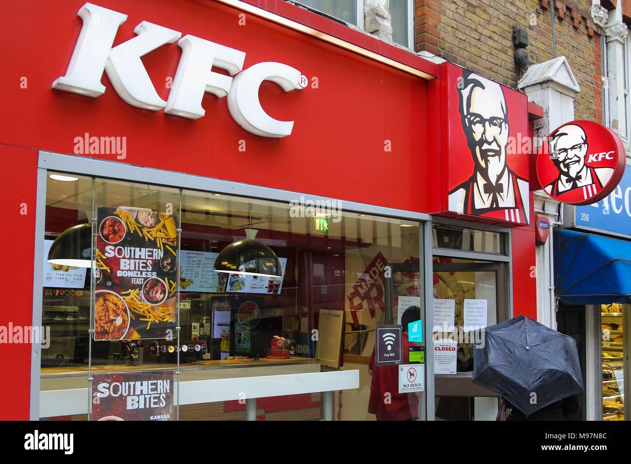 Kentucky Fried Chicken (KFC) fast food restaurant in Wood