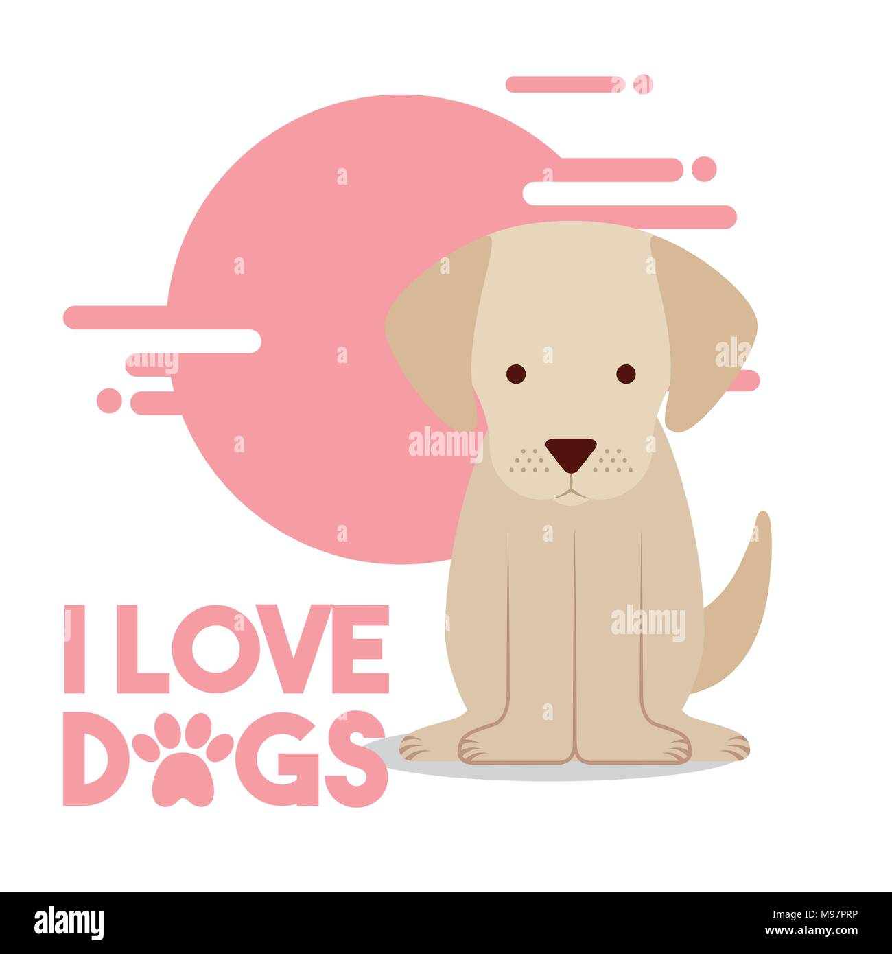 love dog pet - Stock Image