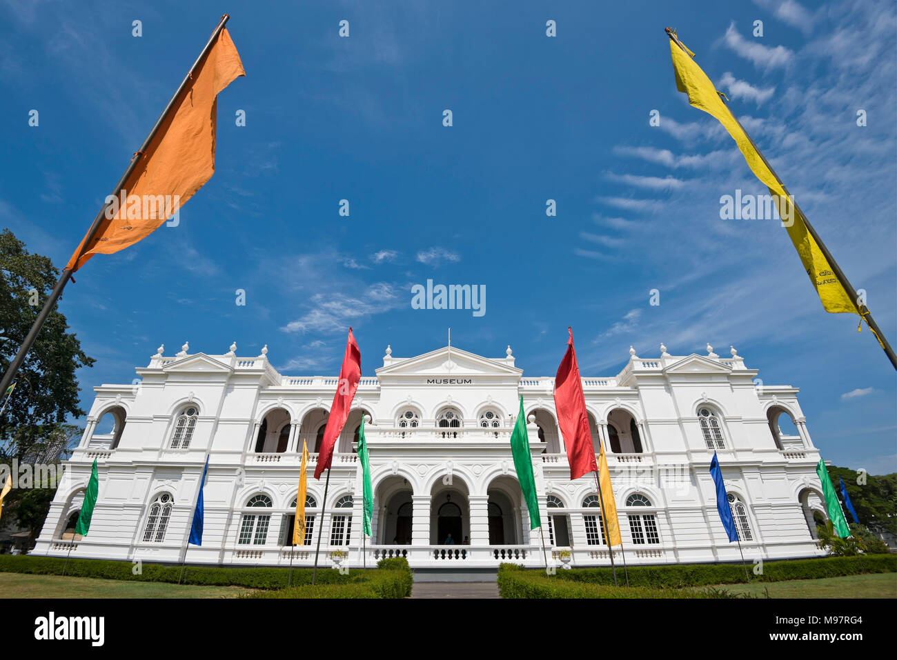 Horizontal view of the National Museum of Colombo, aka the Sri Lanka National Museum, in Colombo, Sri Lanka. - Stock Image