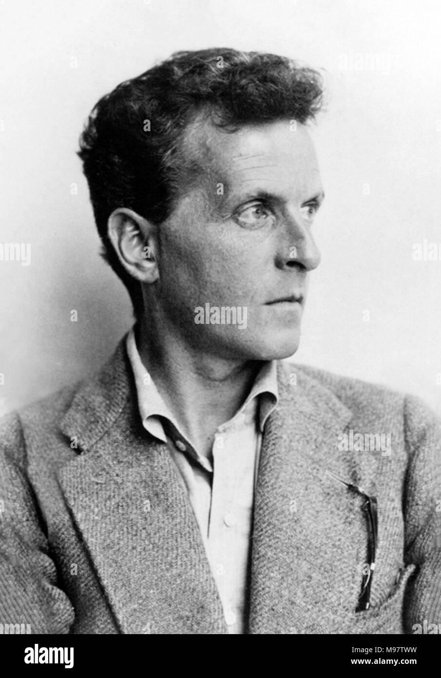 Ludwig Wittgenstein. Portrait of the Austrian philosopher Ludwig Josef Johann Wittgenstein (1889-1951) by Moritz Nähr, 1930. - Stock Image