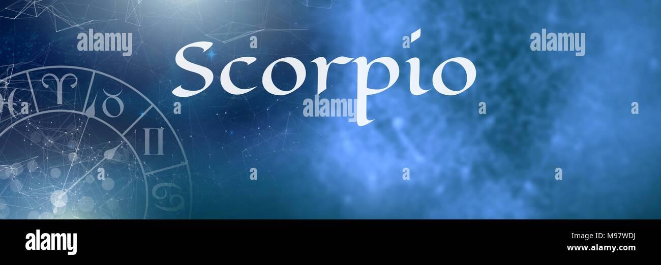 Scorpio mystical zodiac astrology - Stock Image