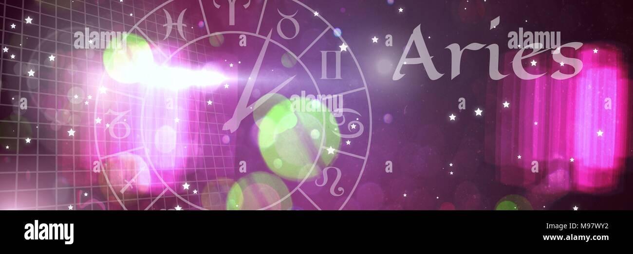Aries mystical zodiac astrology - Stock Image