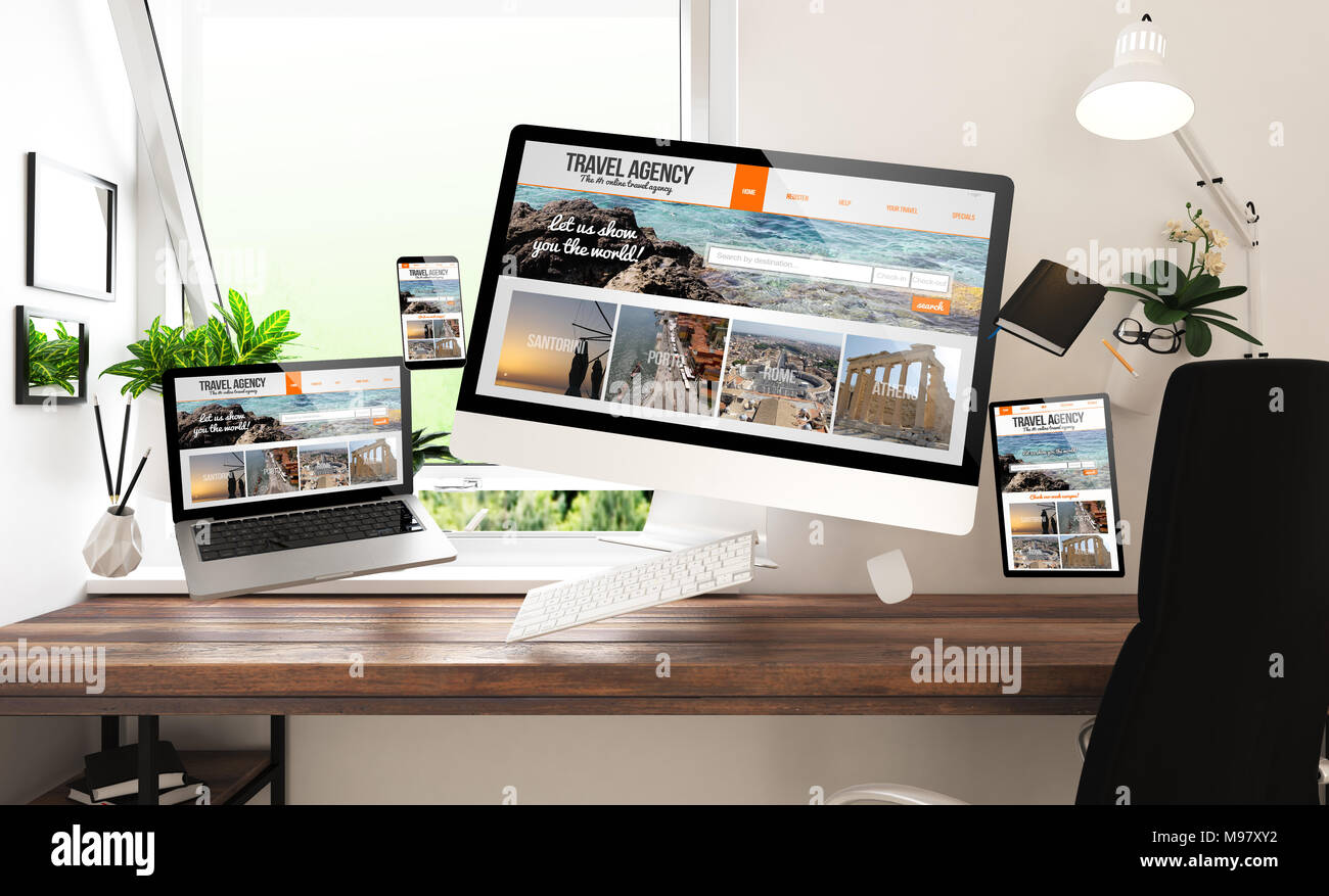 travel agency display of stock photos travel agency display of stock images alamy. Black Bedroom Furniture Sets. Home Design Ideas