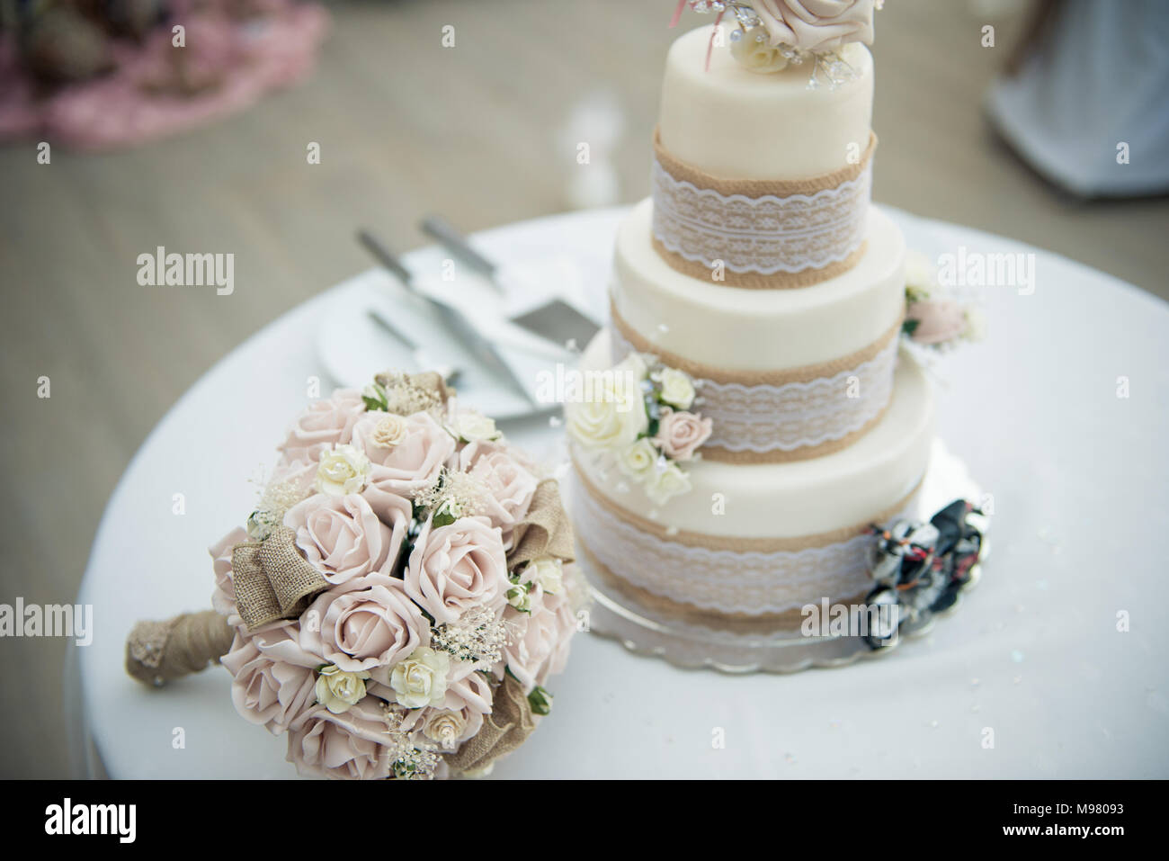 Stunning flowers for an exquisite wedding - Stock Image