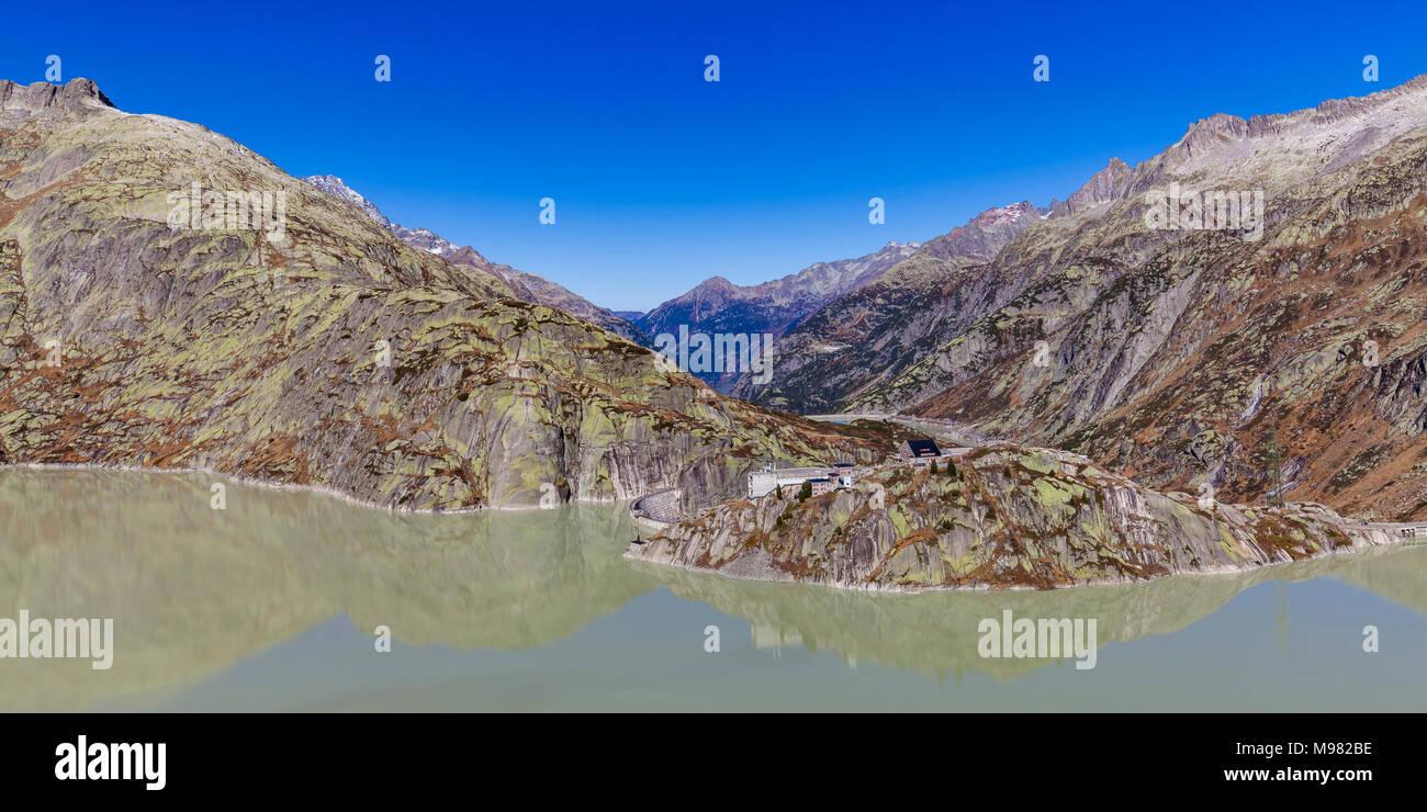 Schweiz, Kanton Bern, Berner Oberland, Grimselgebirge, Grimselsee, Staumauer, Stausee, Speichersee, See - Stock Image