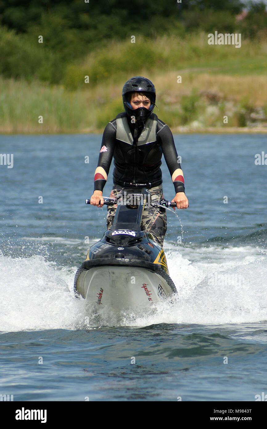 extreme water sport, personal water craft (PWC) Jet Ski - Stock Image