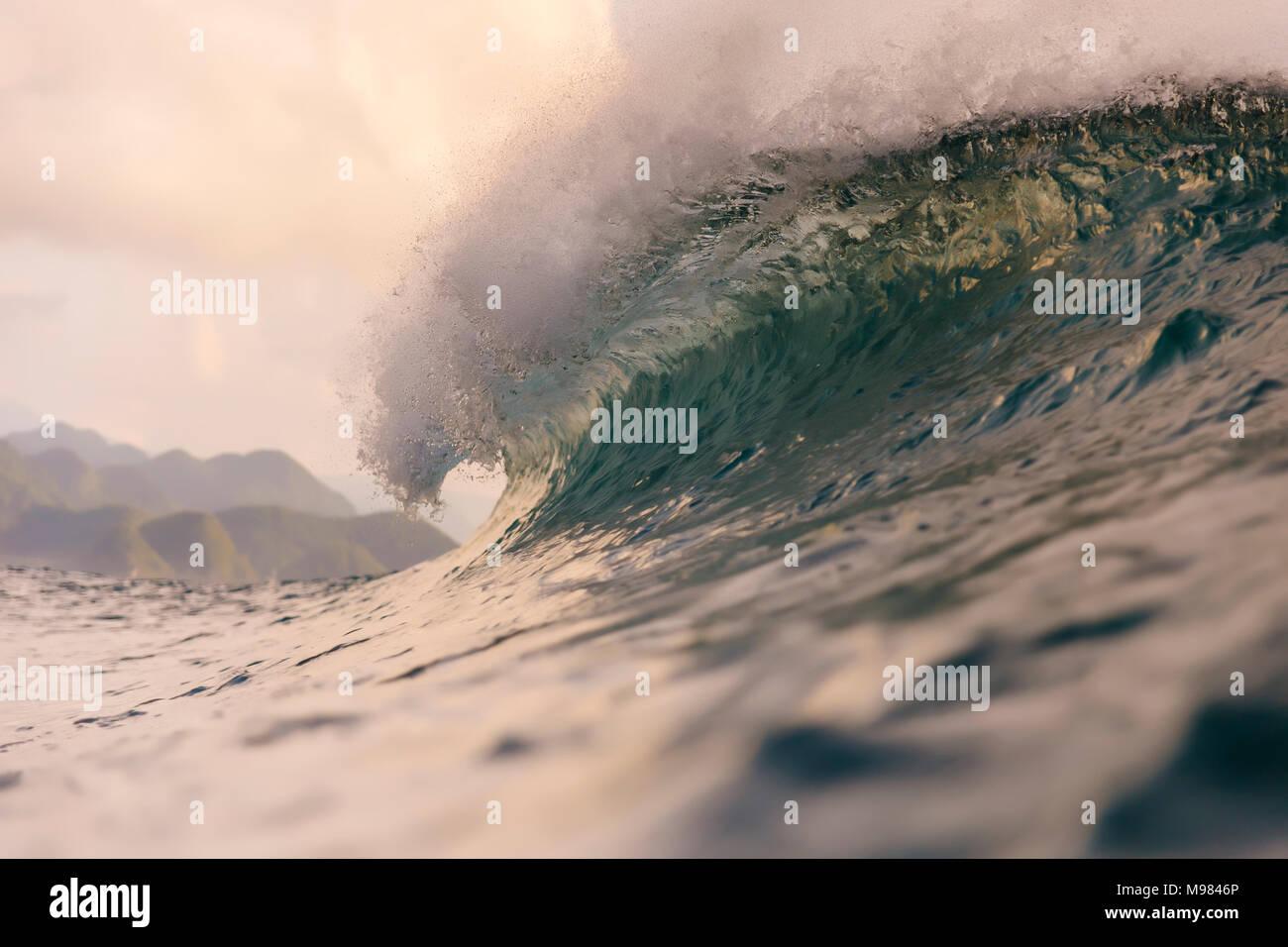 Indonesia, Sumatra, big wave - Stock Image