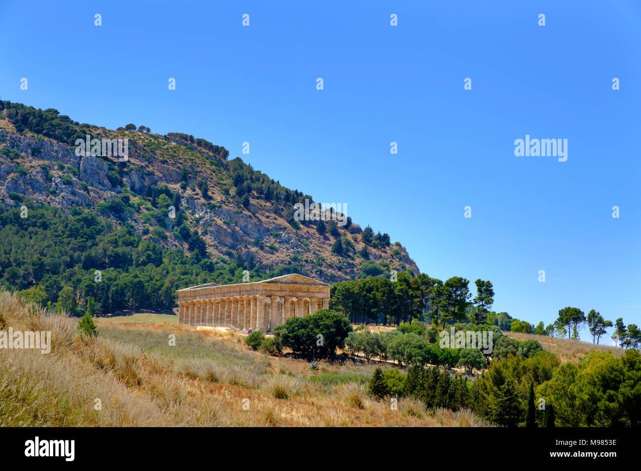 griechische Tempelanlage Segesta, Provinz Trapani, Sizilien, Italien - Stock Image