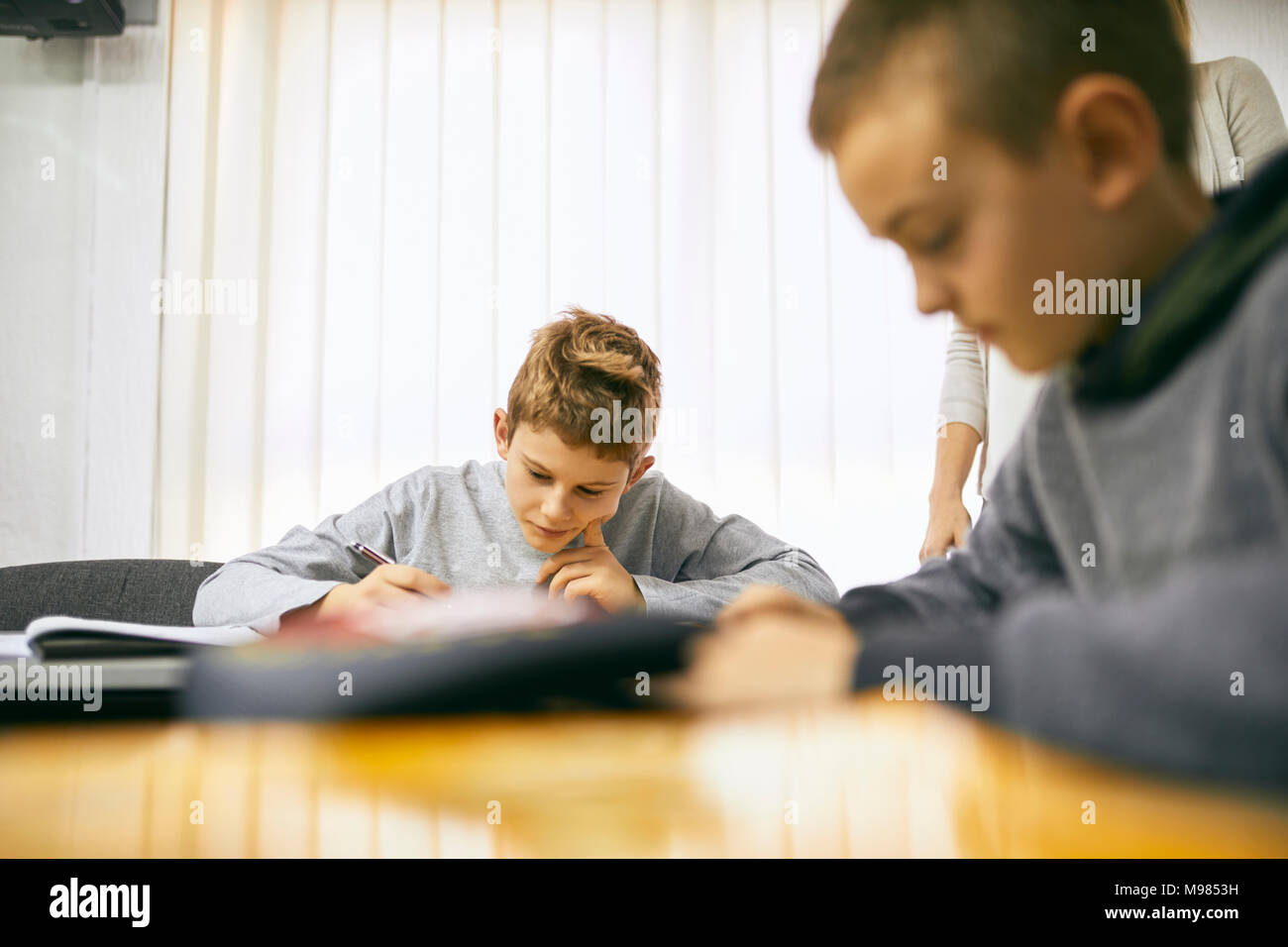 Students learning in class - Stock Image
