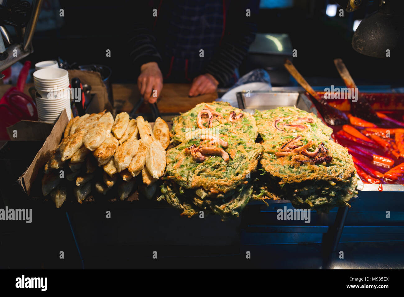South Korea, Busan, street food market to take away - Stock Image