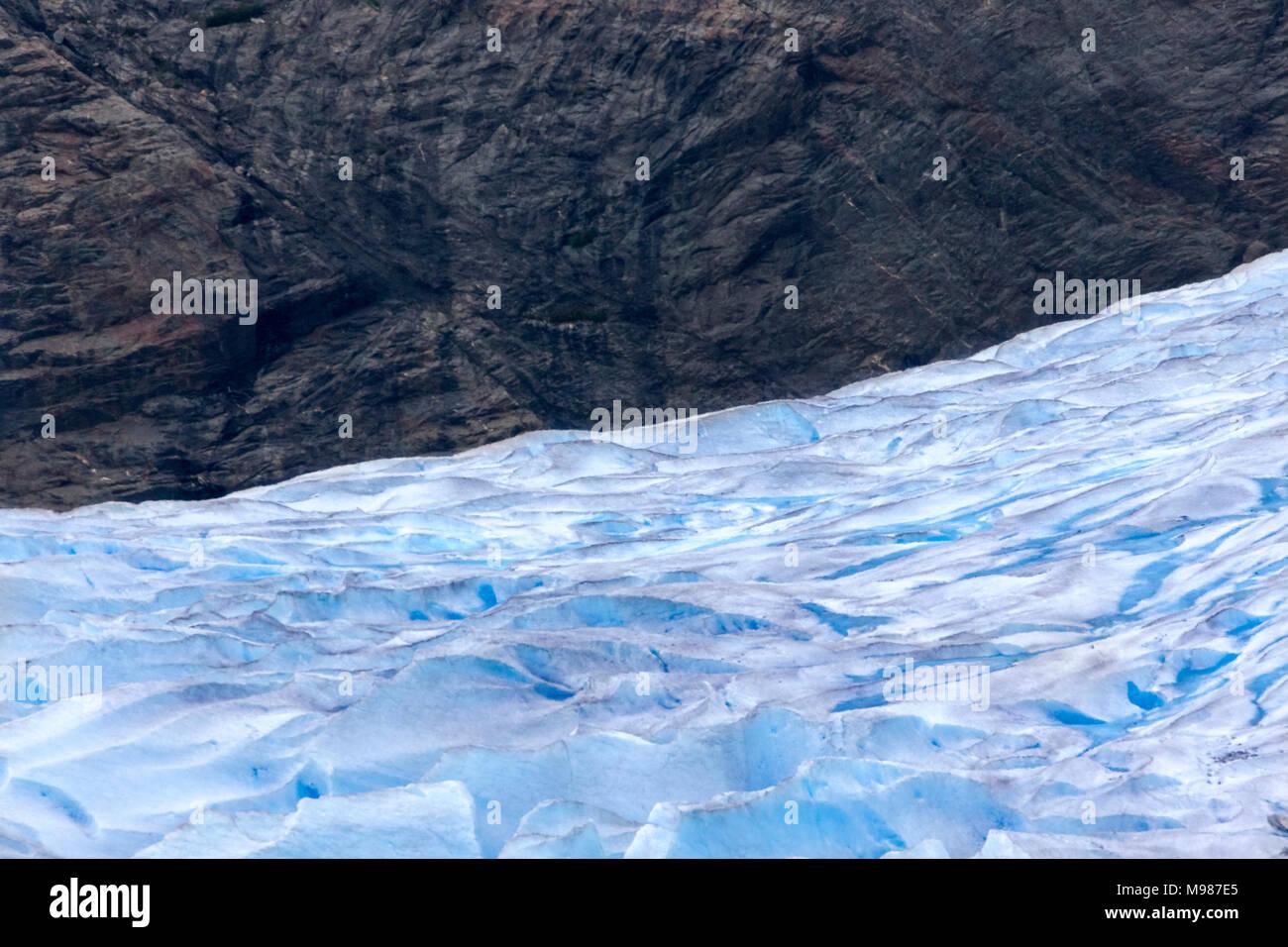 USA, Alaska, Juneau, Mendenhall glacier, rock - Stock Image