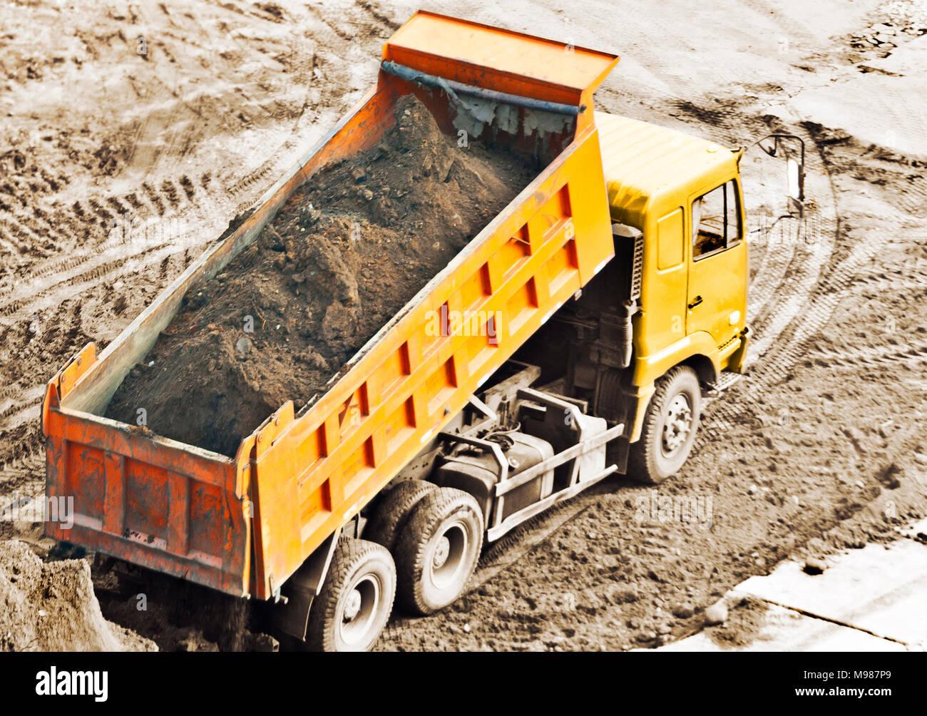 dump truck - Stock Image