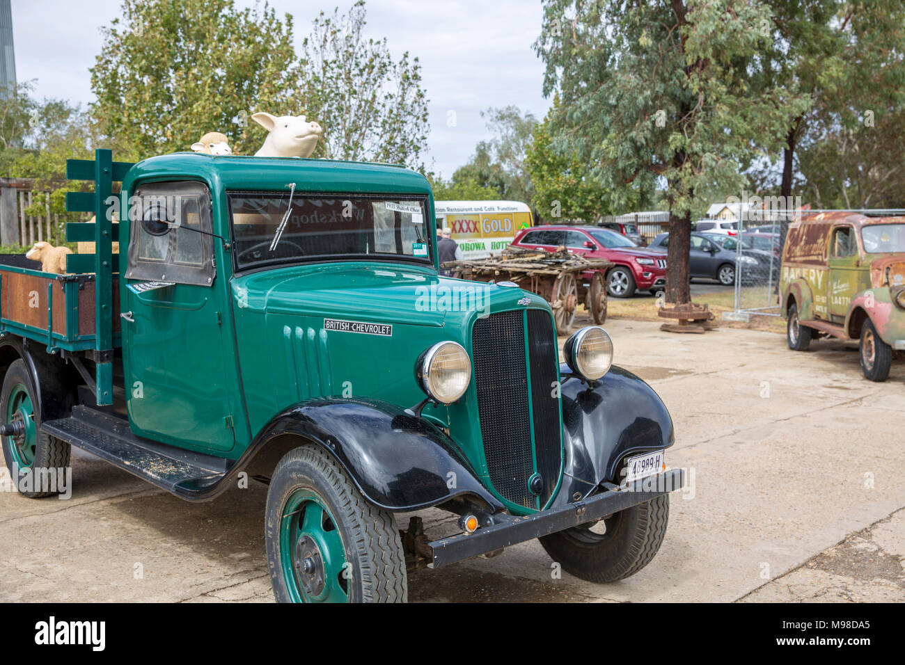 Vintage classic British Chevrolet vehicle on display at The