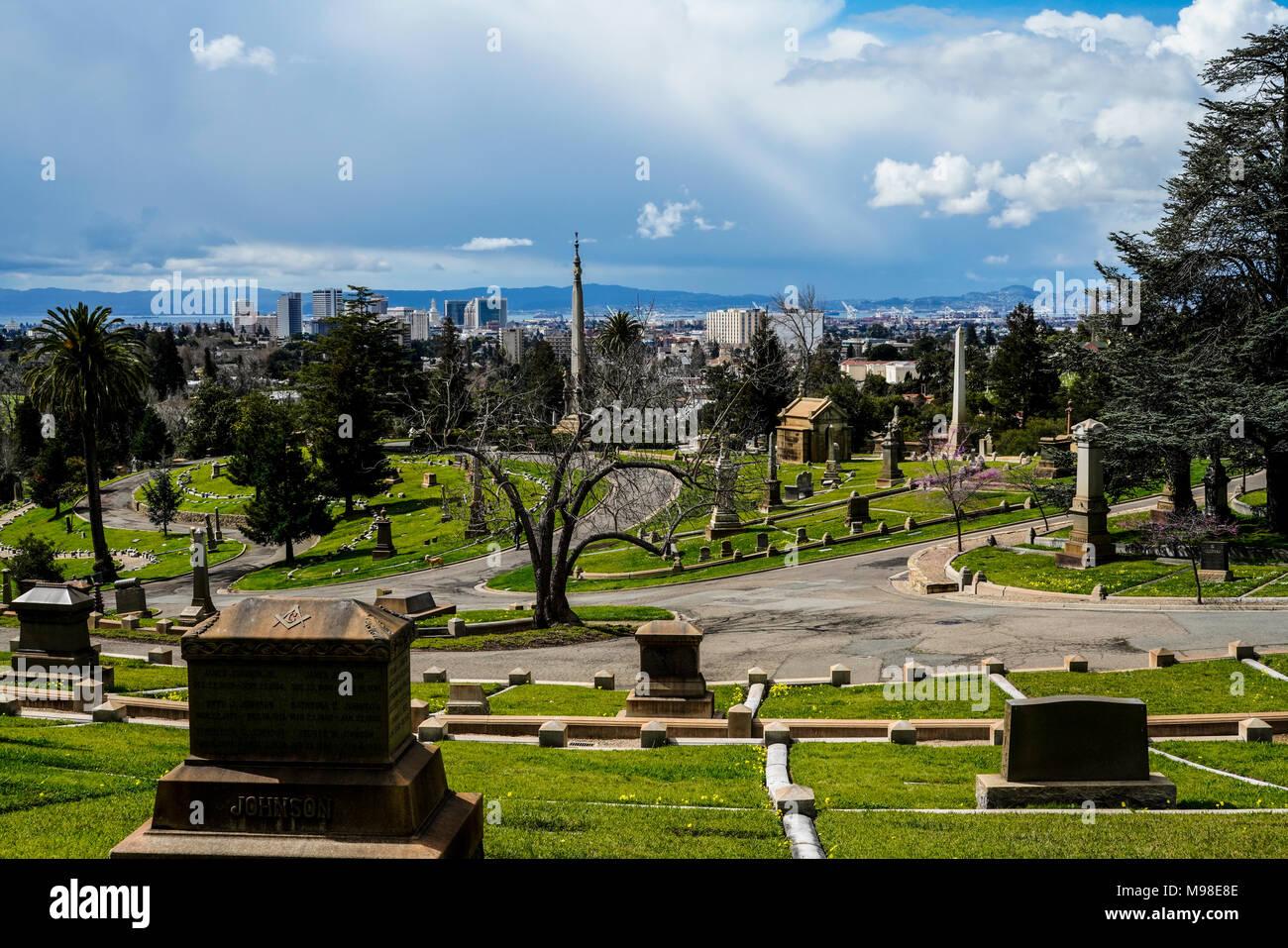 Mountain View Cemetary, Oakland CA Stock Photo