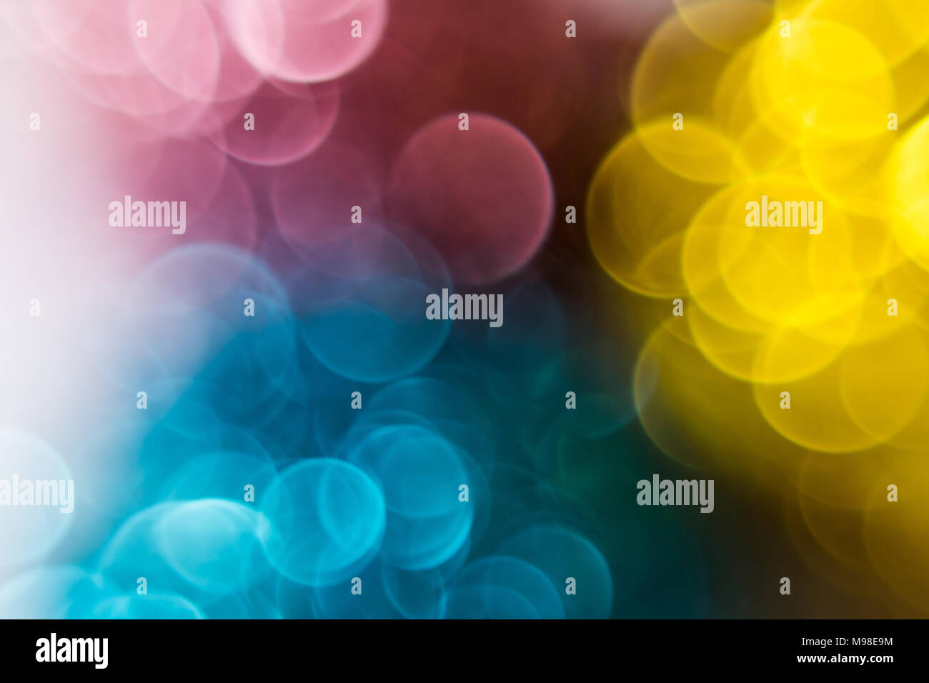 Unfocused blurry colorful lights - Stock Image