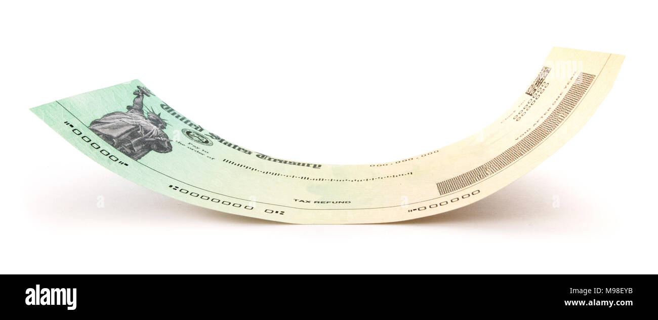 Isolated Income Tax Return Check - Stock Image