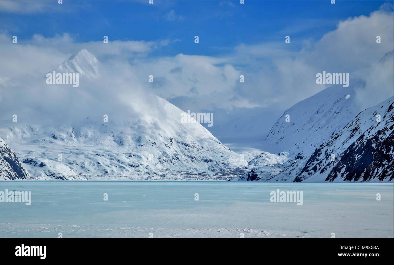 Frozen Portage Glacier Lake, Alaska - Stock Image