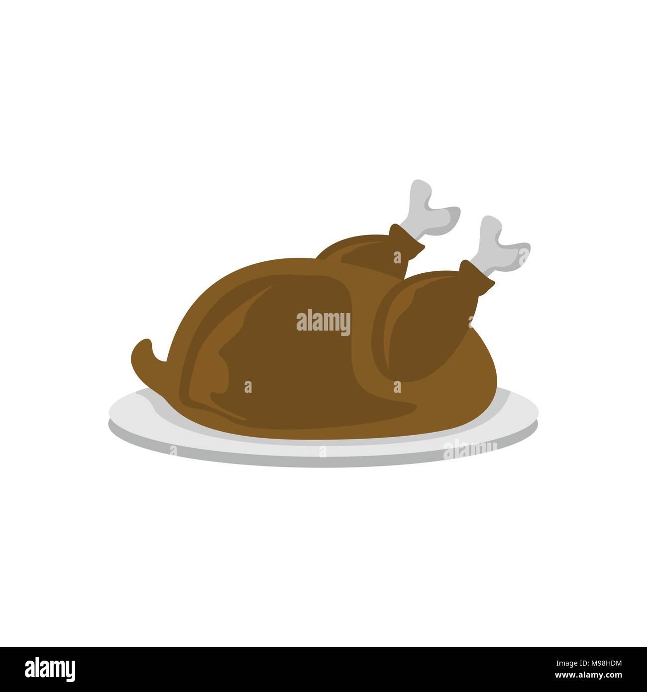 Turkey Meat Food Cafe Vector Illustration Graphic Design - Stock Image