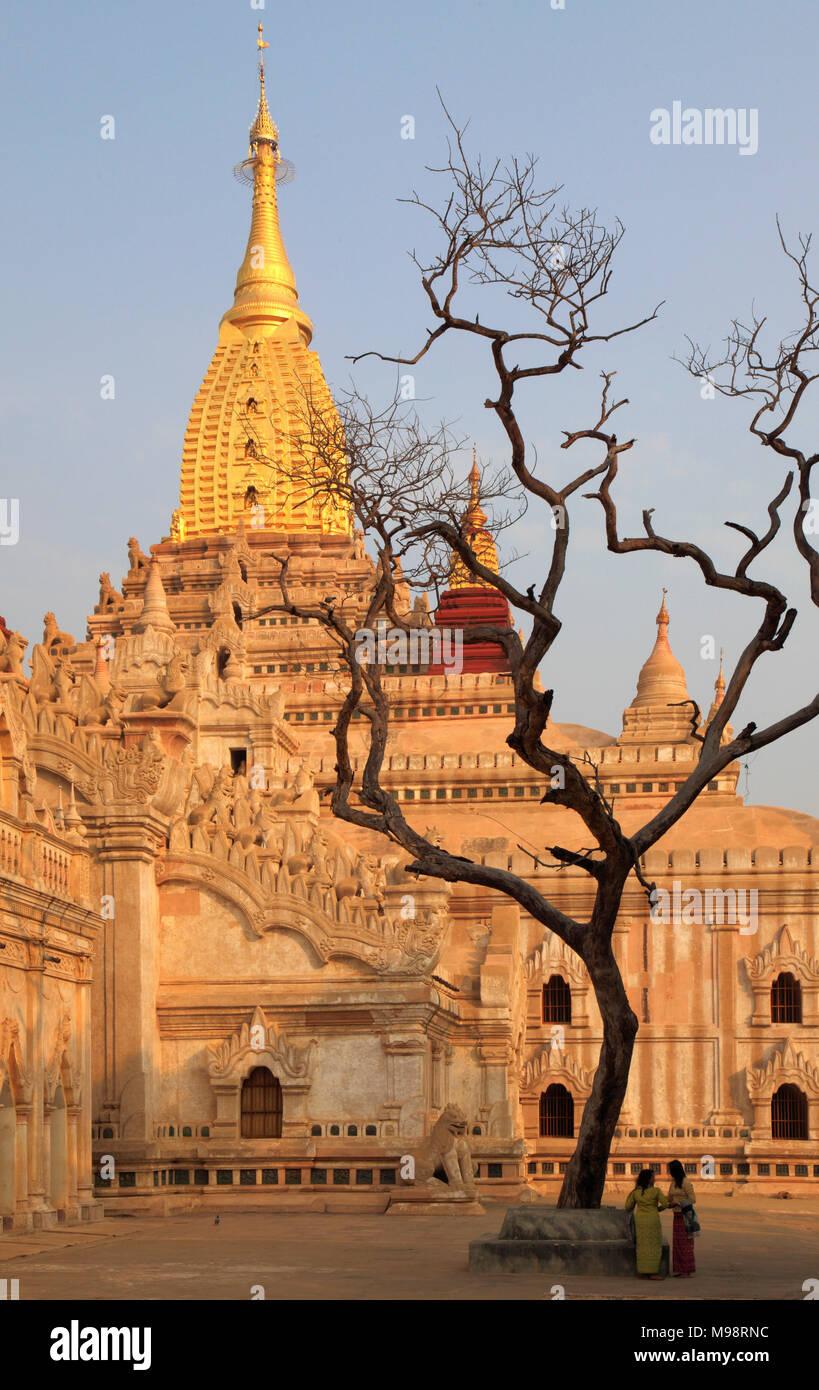 Myanmar, Burma, Bagan, Ananda Temple, - Stock Image