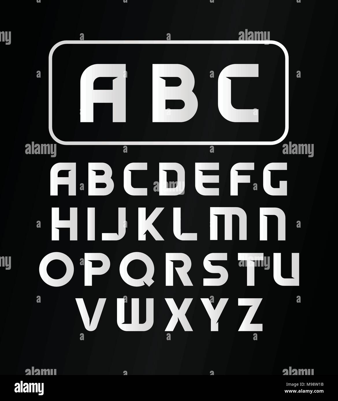 English Alphabet Typeface Vector Modern Font Simple Decorative Bold Letters Of The On Black Background Monogram Logos Collection