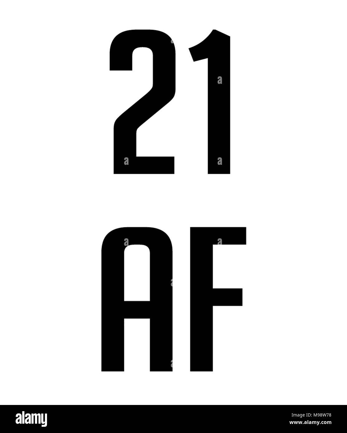 21 af art - Stock Image