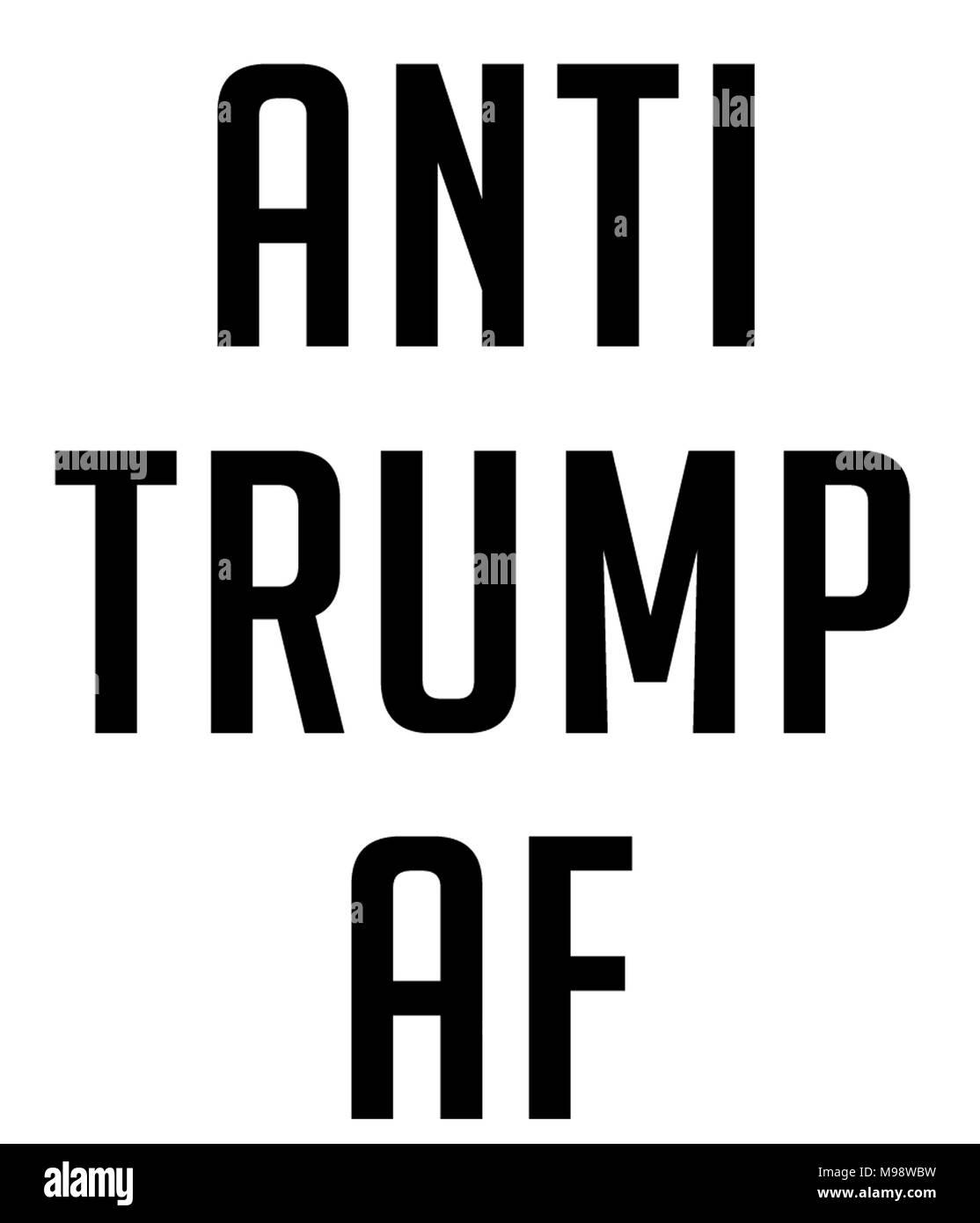 anti trump af - Stock Image