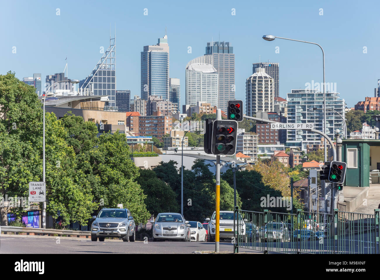 Darling Point Road, Edgecliff, Sydney, New South Wales, Australia - Stock Image