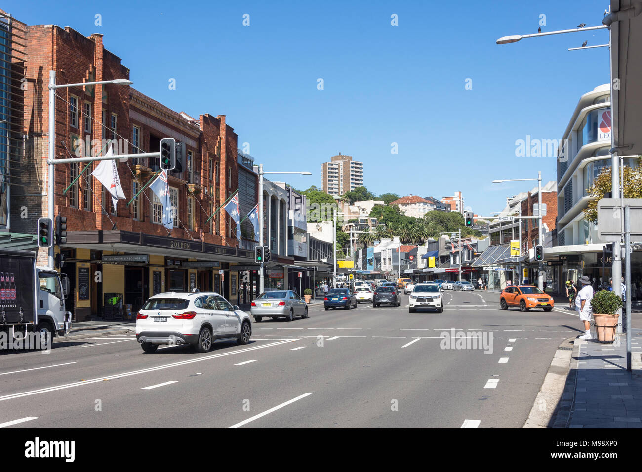 New South Head Road, Double Bay, Sydney, New South Wales, Australia - Stock Image