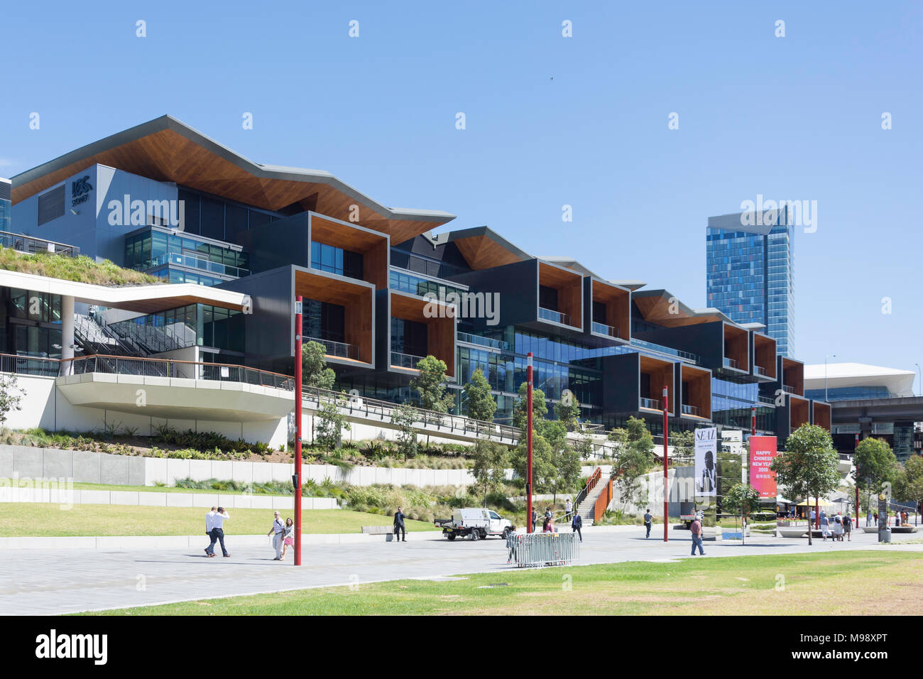 International Convention Centre Sydney (ICC Sydney), Darling Drive, Darling Harbour, Sydney, New South Wales, Australia - Stock Image