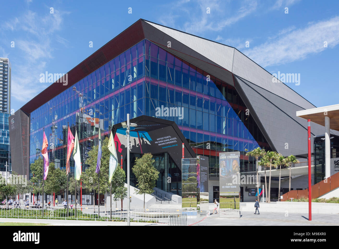 International Convention Centre Sydney Theatre (ICC Sydney), Darling Drive, Darling Harbour, Sydney, New South Wales, Australia - Stock Image