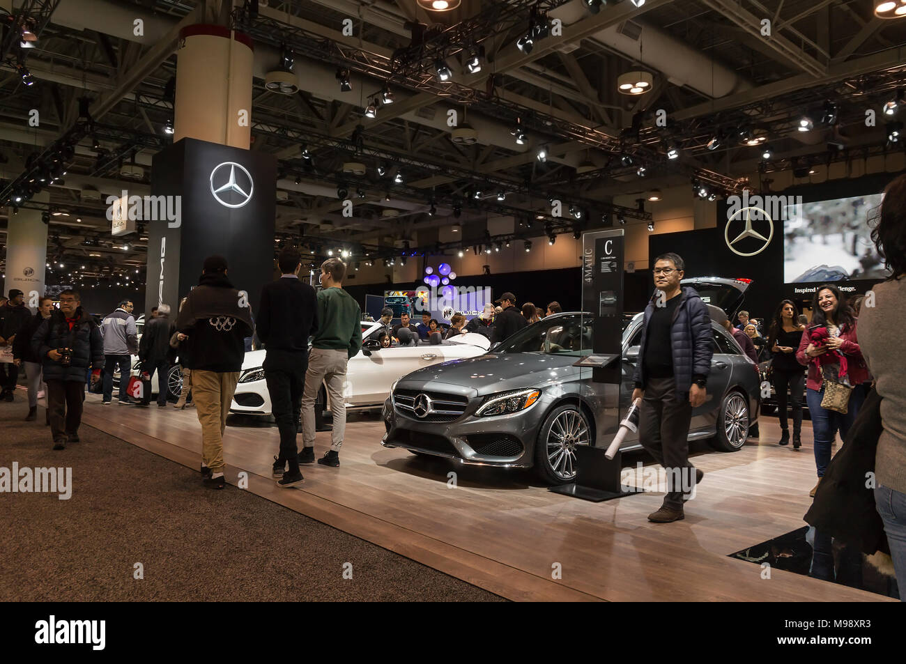 Toronto, Canada - 2018-02-19: Mercedes-Benz exposition on 2018 Canadian International AutoShow - Stock Image