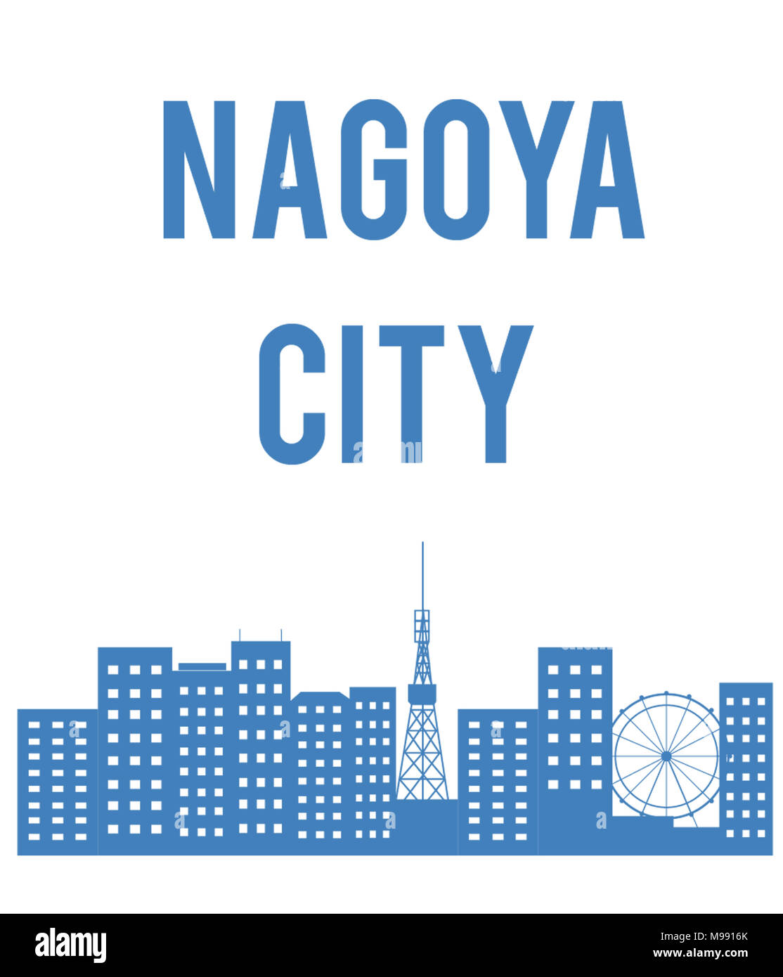 nagoya city japan - Stock Image