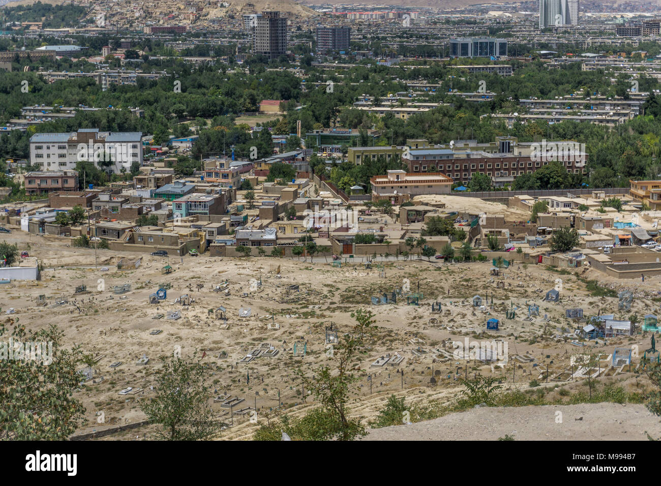 Overview of Kabul, Afghanistan - Stock Image