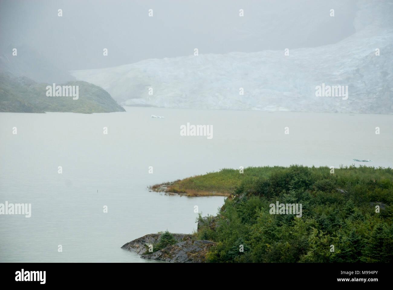 USA Alaska, Tongass National Forest, Mendenhall Glacier Recreation Area, Travel destination - Stock Image