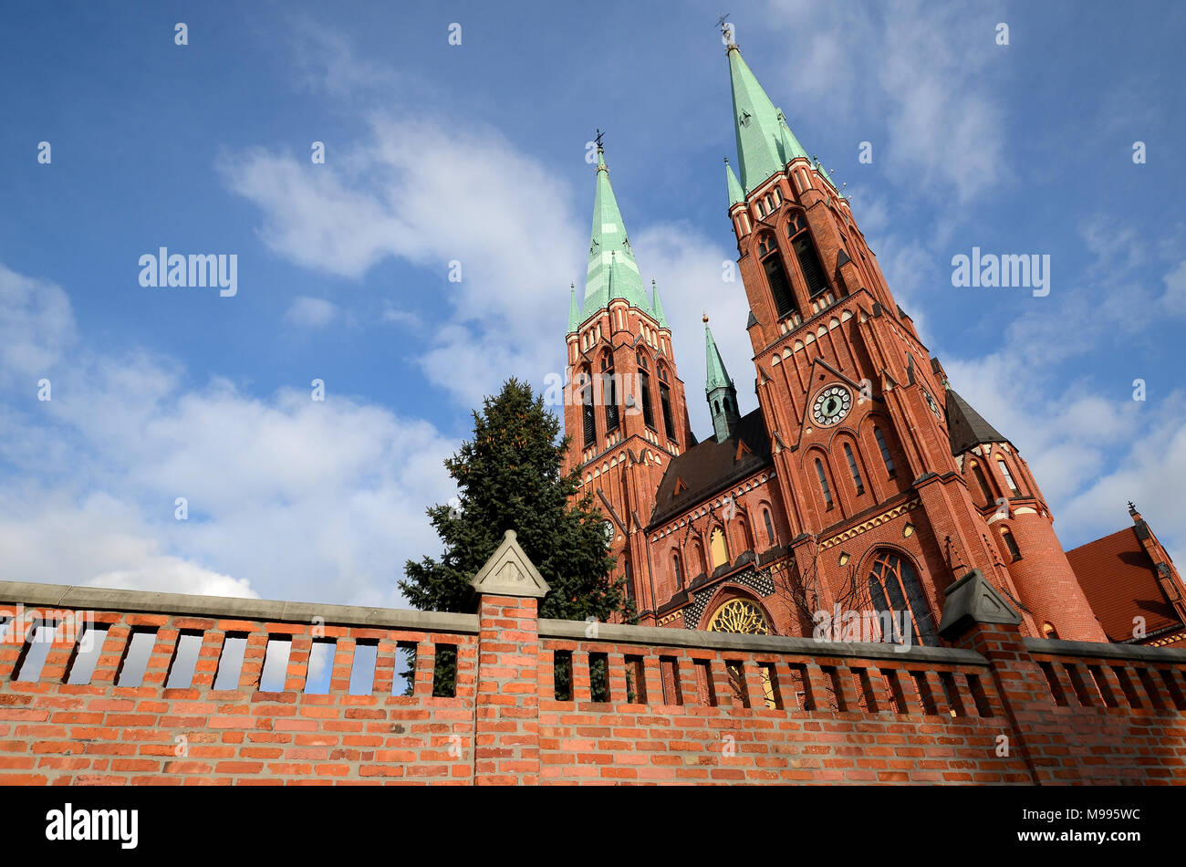 Cathedral in Rybnik (Poland) - Stock Image