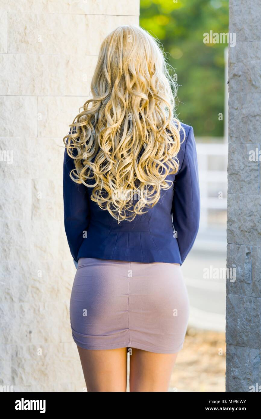 Young woman from back - Stock Image