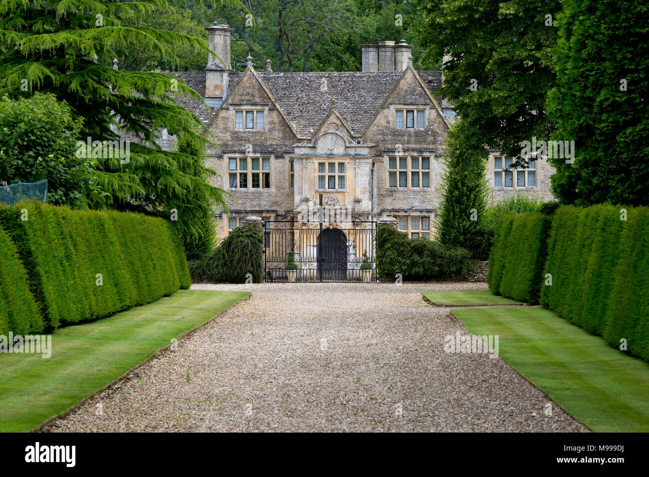 Upper Slaughter Manor House, the Cotswolds, Upper Slaughter, Gloucestershire, England - Stock Image