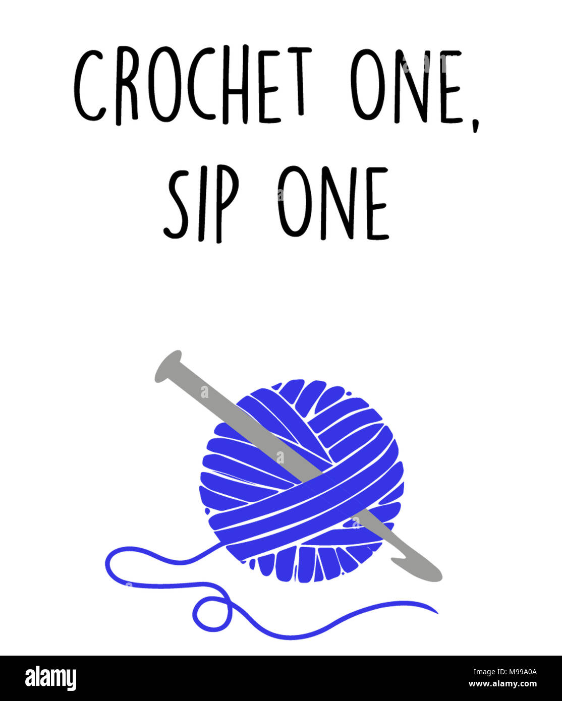 Crochet One, Sip One - Stock Image
