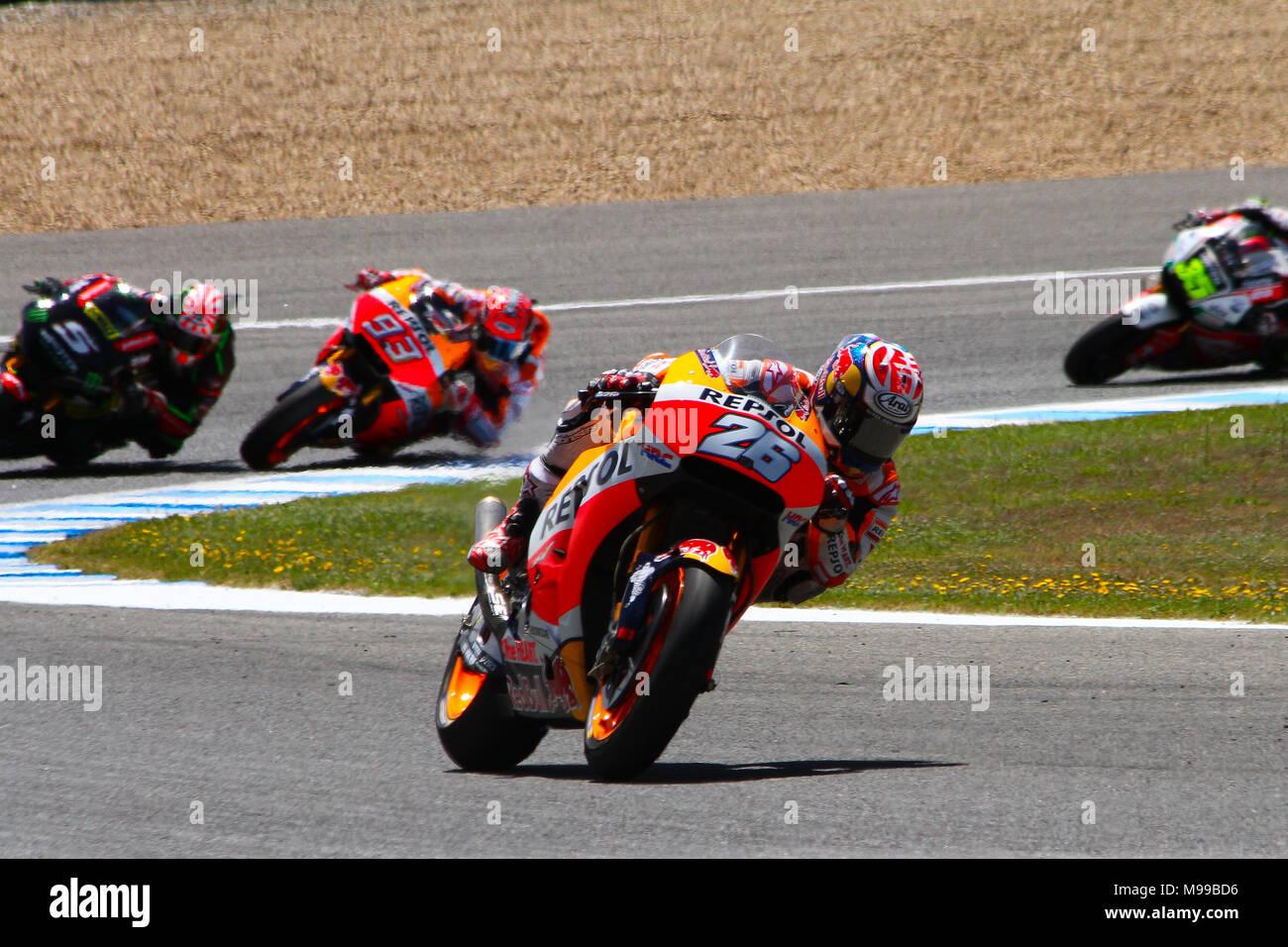 moto3, moto2, motoGP, Jerez de la Frontera - Stock Image