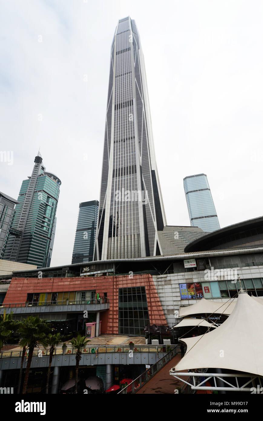 Ping An tower in Futian, Shenzhen. - Stock Image