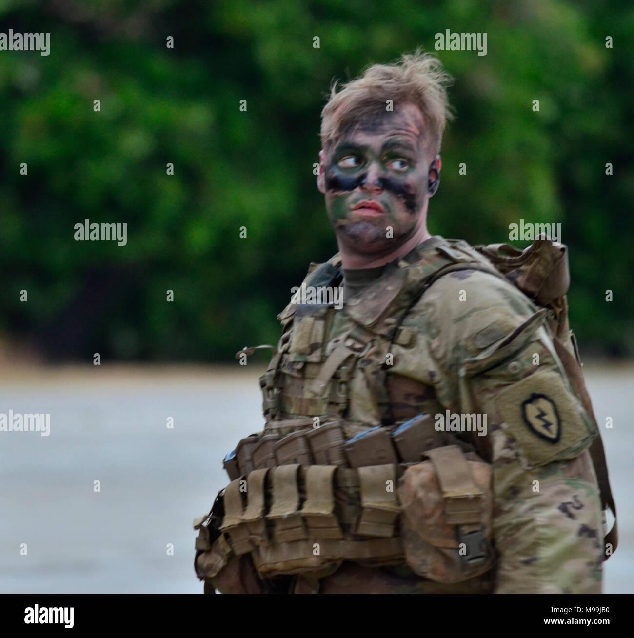 US Army Spc Aaron Hanna An Infantryman With Alpha Company 1st Battalion