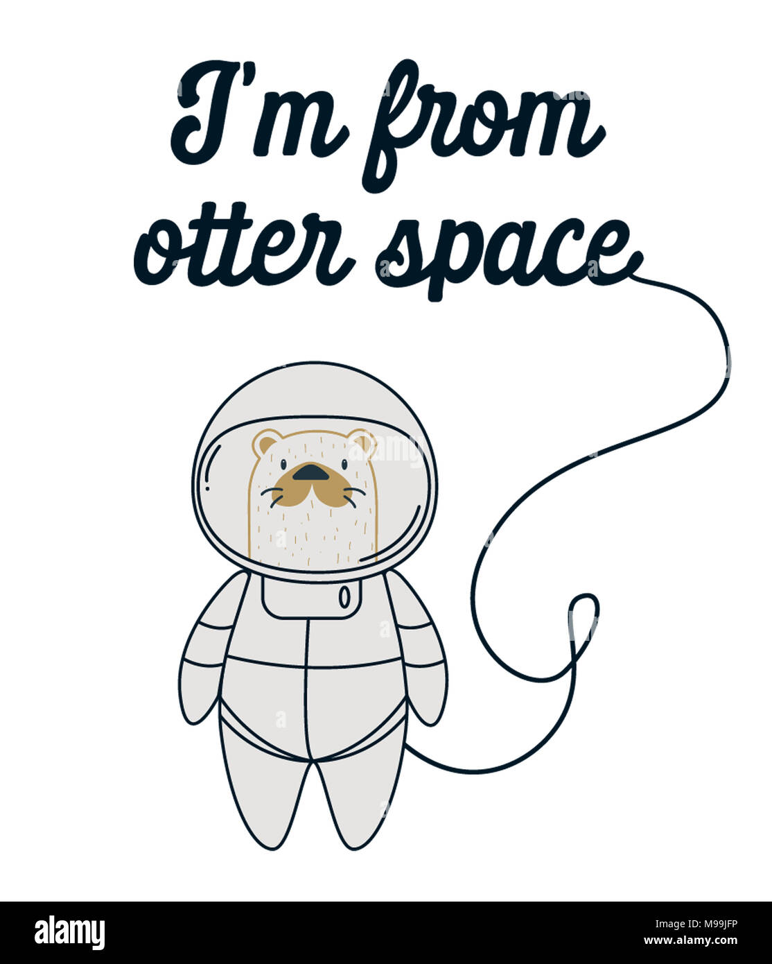 I'm from otter space - Stock Image