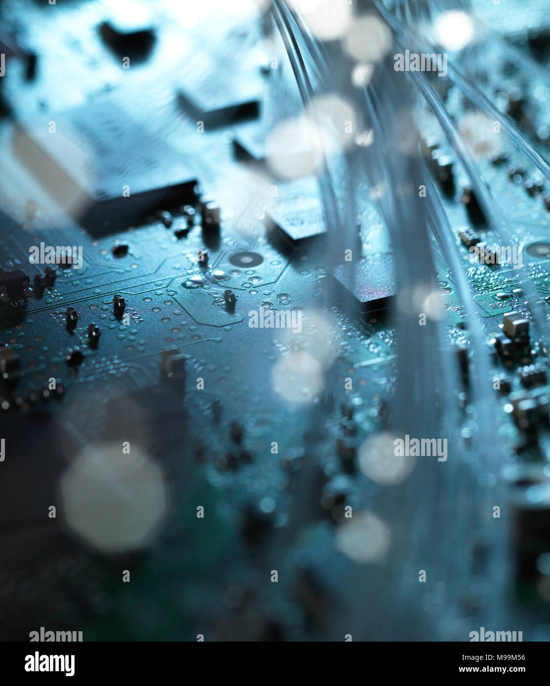 Fiber Optics And Circuit Board By Setsiri Silapasuwanchai