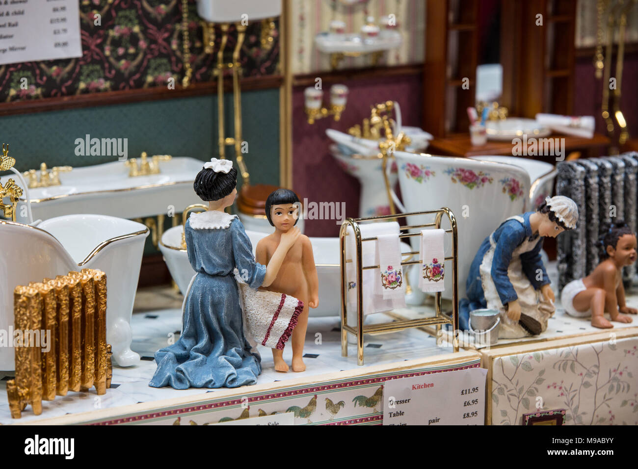 birmingham uk 24th march 2018 the minatura dolls house modelling