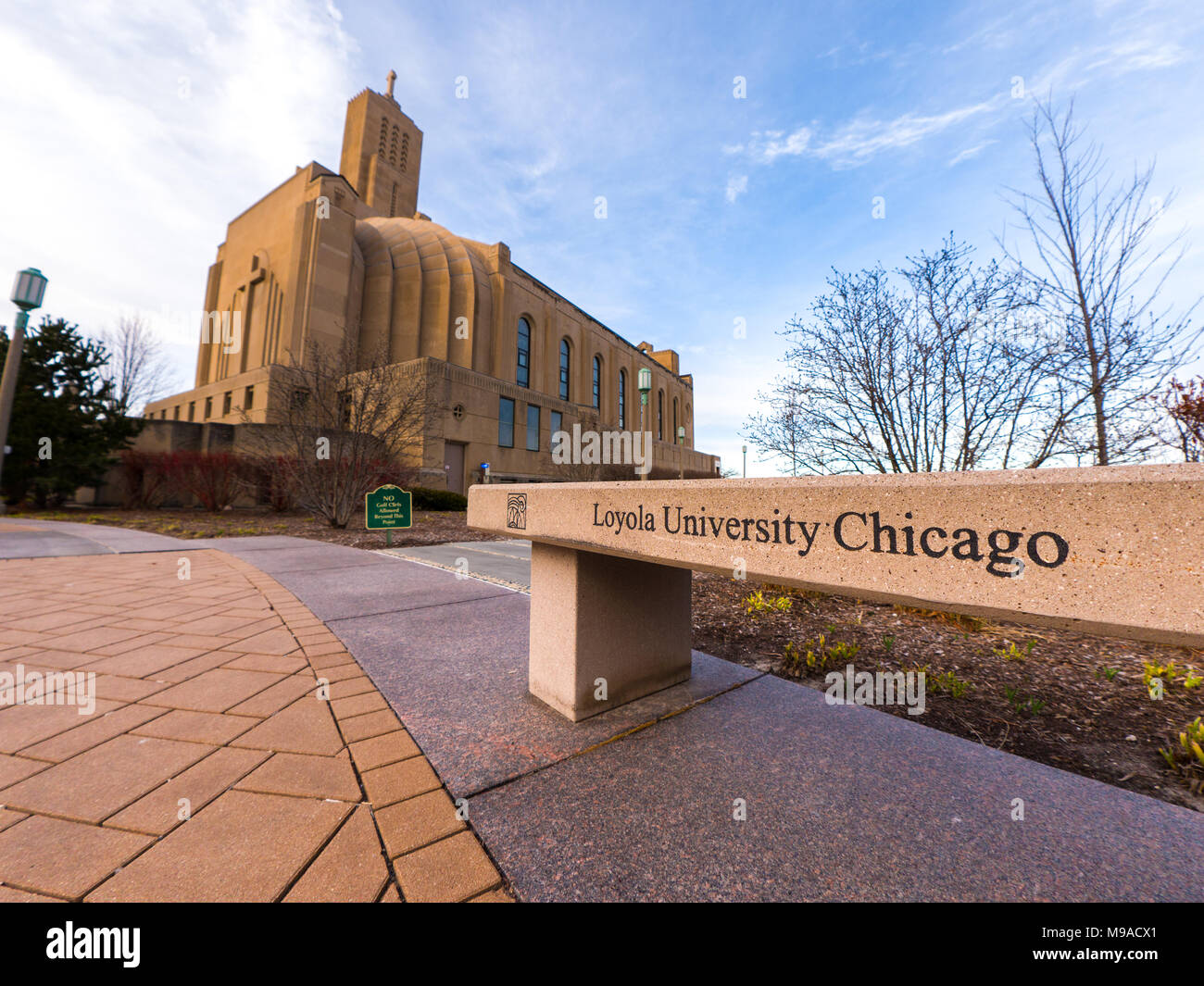 Chicago, IL - March 23, 2018: Loyola University students and