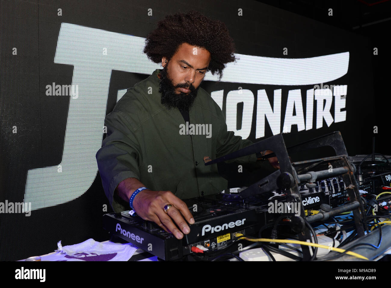 Miami Beach, FL, USA. 23rd Mar, 2018. Jillionaire performs during Miami Music Weekend Hits 97.3 Hotel at the Clevelander Hotel on March 23, 2018 in Miami Beach, Florida. Credit: Mpi04/Media Punch/Alamy Live News Stock Photo